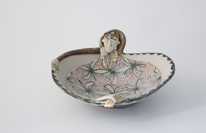 Flowery Dishy Lady | Helen Martino Pottery | Cambridge Potter