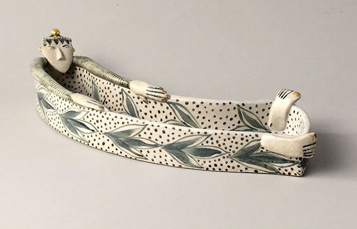 Leafy Tall Lady | Helen Martino Pottery | Cambridge Potter