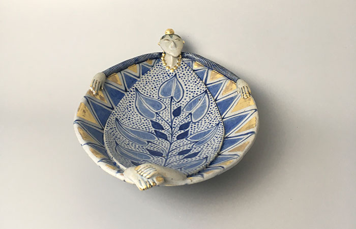 Relaxing Dishy Lady | Helen Martino Pottery | Cambridge Potter