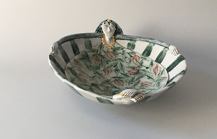 Summertime dishy lady | Helen Martino Pottery | Cambridge Potter