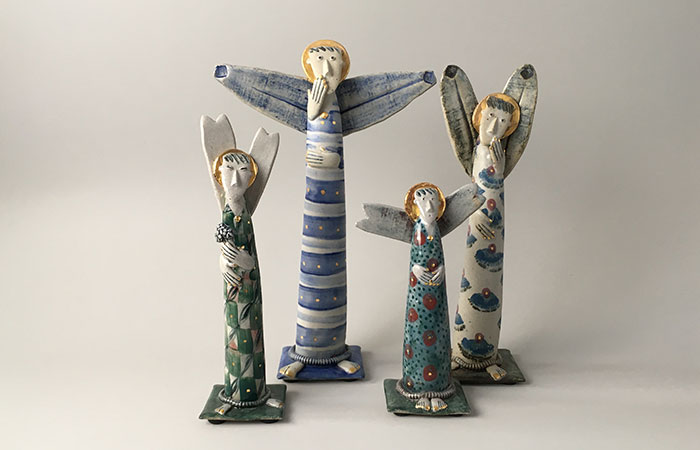 Group of Angels | Helen Martino Pottery | Cambridge Potter