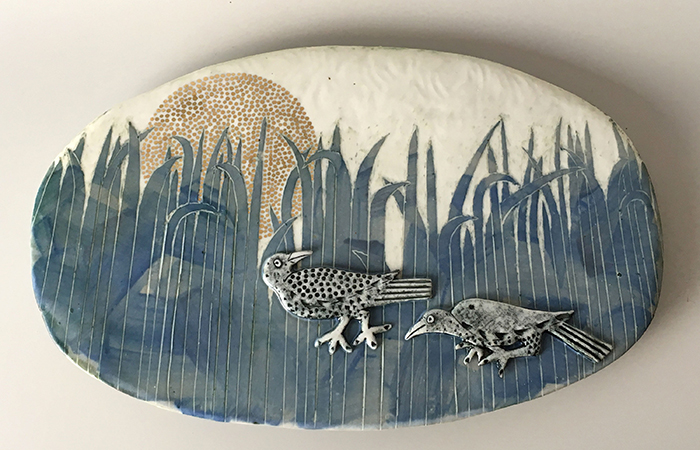 Hiding in the Grasses | Helen Martino Pottery | Cambridge Potter