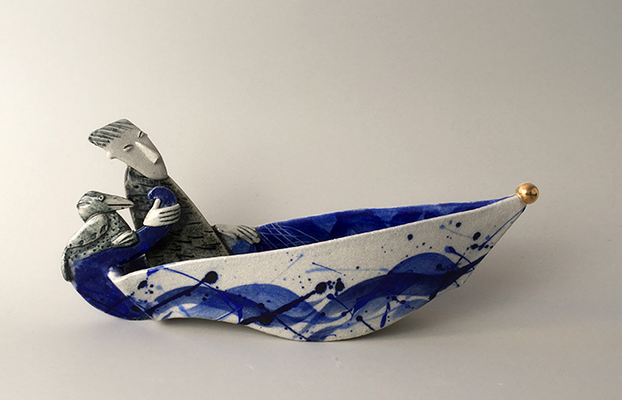 Going fishing | Helen Martino Pottery | Cambridge Potter