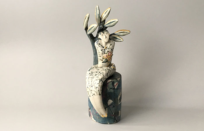 Her Bunch of Flowers | Helen Martino Pottery | Cambridge Potter