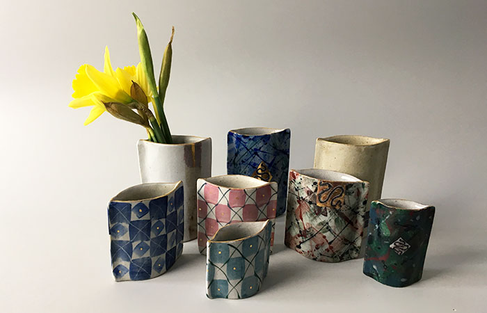 Squiggles, kiss pots and lines | Helen Martino Pottery | Cambridge Potter